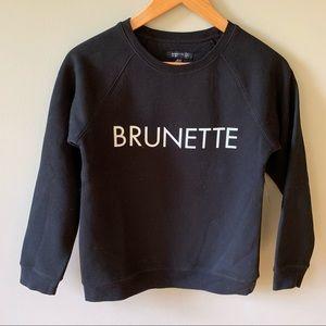 Brunette the Label Black Crewneck NWT Little Babes